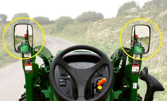 Tractor Rear View Mirrors : New john deere cx loader