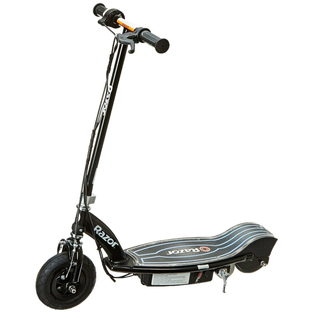 razor e100 glow electric scooter black ebay. Black Bedroom Furniture Sets. Home Design Ideas