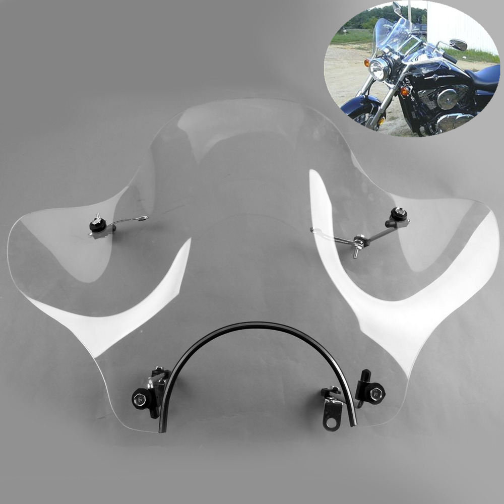 clear windshield for kawasaki cruiser vulcan vn 500 750. Black Bedroom Furniture Sets. Home Design Ideas