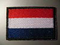DUTCH FLAG The Netherlands - Small Iron-On Embroidered Patch - Holland 3 x 4.5cm