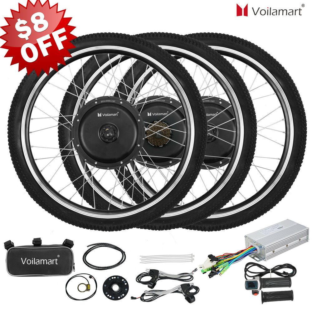 36 48v electric bicycle e bike 26 front rear wheel conversion kit cycling motor ebay. Black Bedroom Furniture Sets. Home Design Ideas