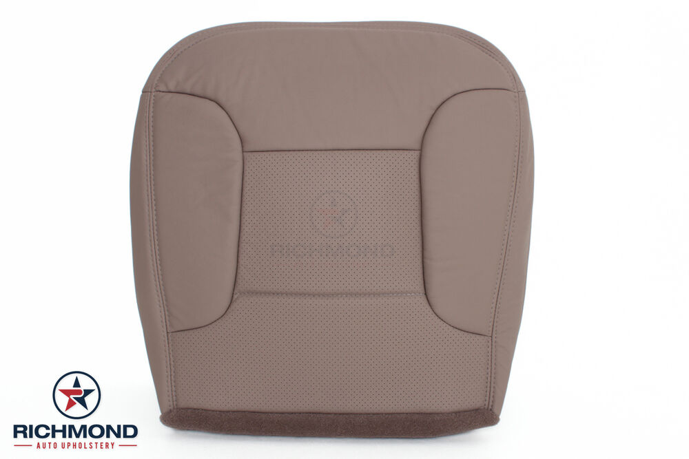 92 96 ford bronco eddie bauer driver bottom replacement leather seat cover tan ebay. Black Bedroom Furniture Sets. Home Design Ideas