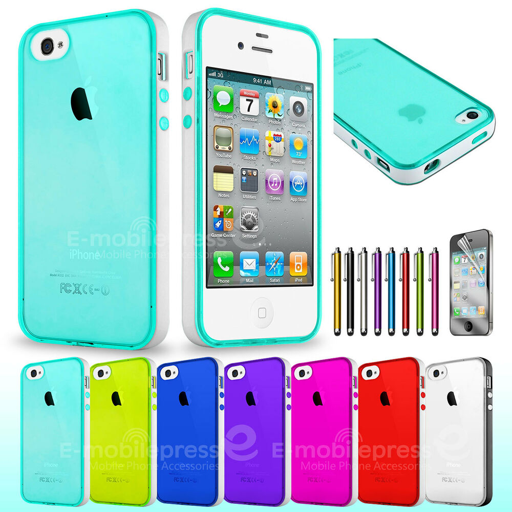 cute iphone 4s cases clear silicone tpu cover skin for apple iphone 4 1782
