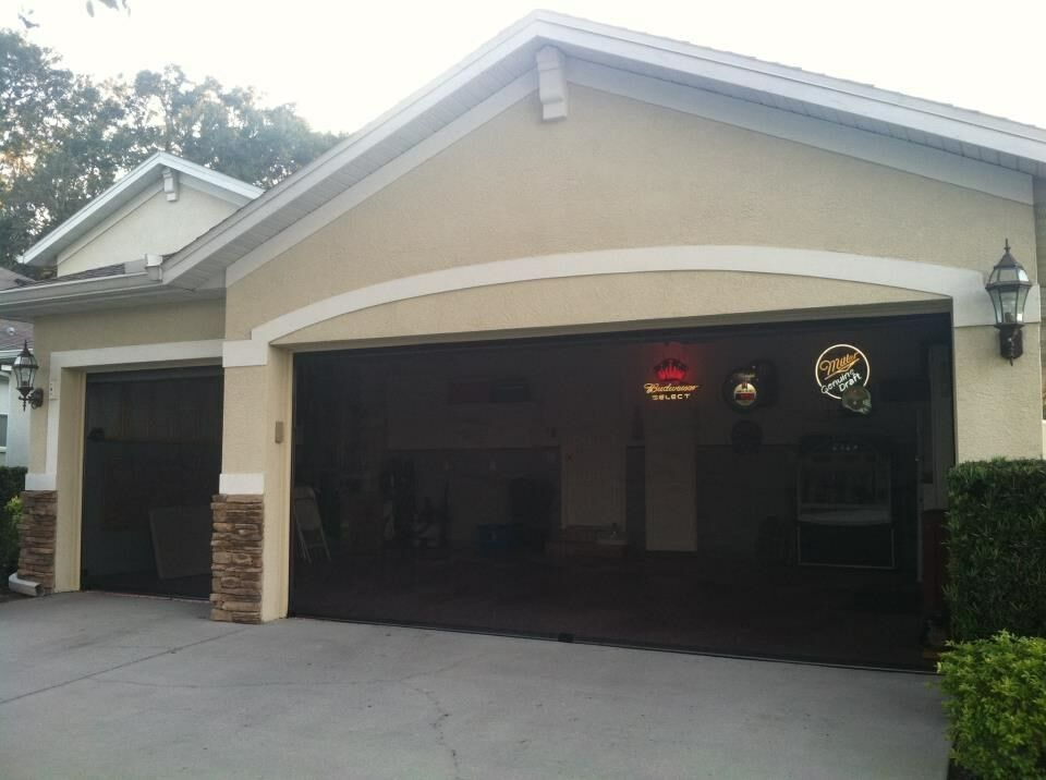 Garage screen 16 39 x 8 39 with free pulley system ebay for 16 foot garage door springs