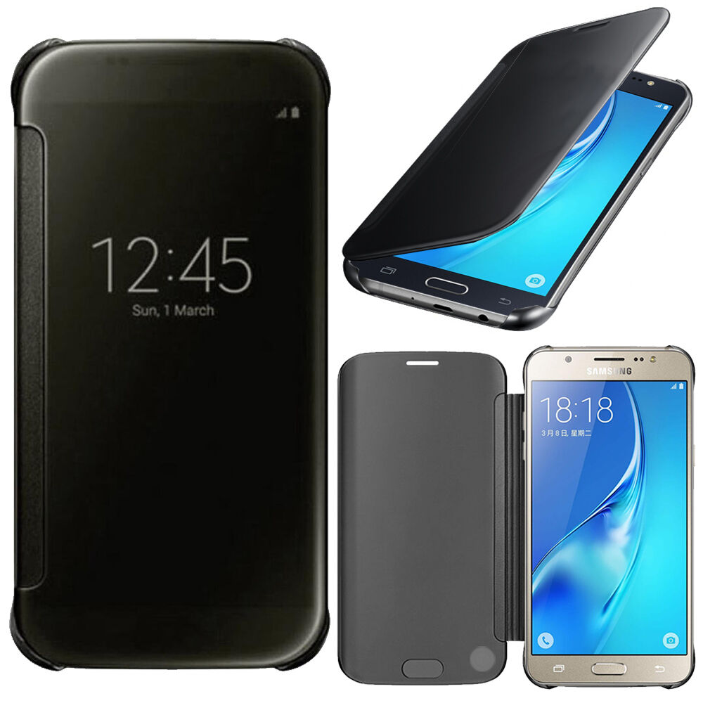 housse coque etui clear view smart cover pour samsung galaxy j5 2016 j510fn ebay. Black Bedroom Furniture Sets. Home Design Ideas