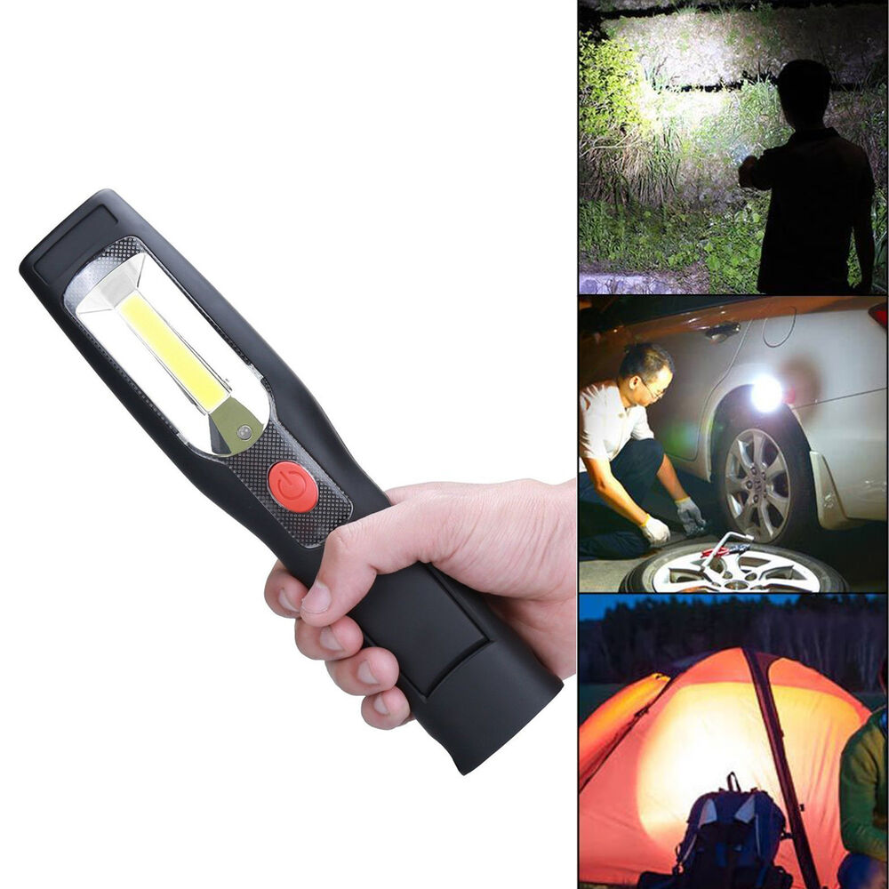 Cob Led Worklight Inspection Lamphand Tool Garage: LED COB Portable Hand Held Work Lamp Cordless