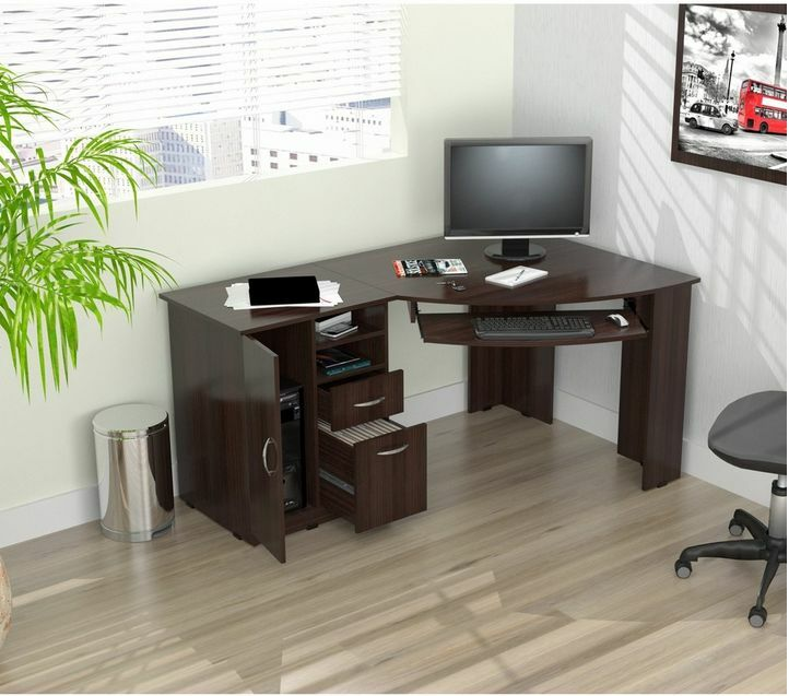 Computer Desk Workstation Corner Desk L Shaped Home Office