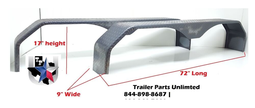 Tandem Axle Trailer Fenders : Tandem axle trailer fenders double broke tread plate