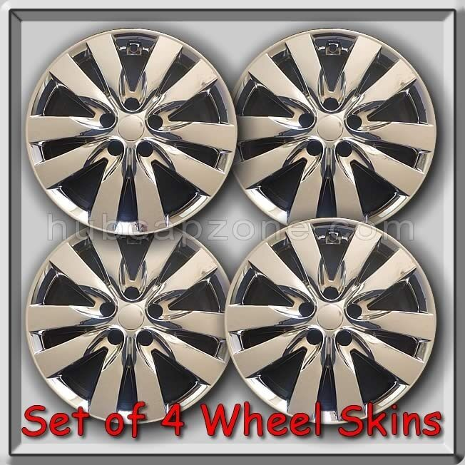 "Set of 4 Chrome 17"" Wheel Skins Hubcaps Fits 2011-2012 Forte Chrome Wheel Covers 