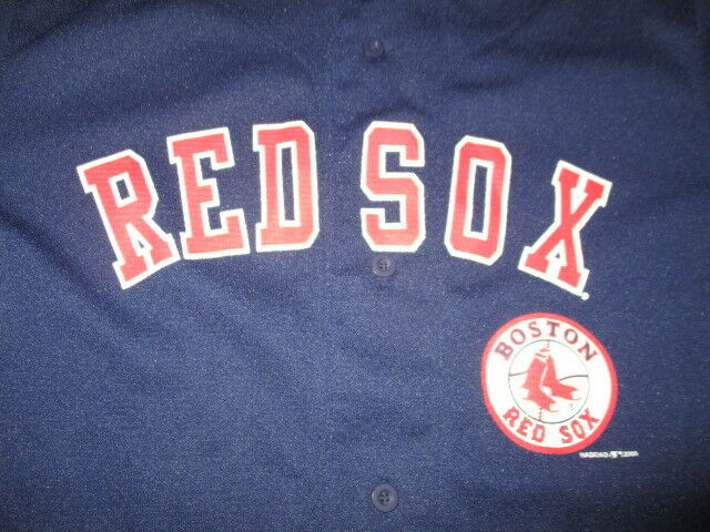 286213a12 Vintage Mighty-Mac Sports BOSTON RED SOX Button-Down (Youth LG) Jersey