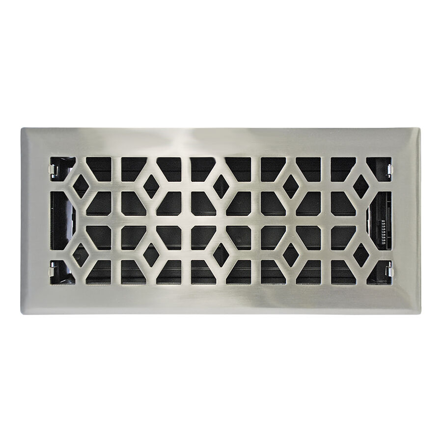 4 Quot X 10 Quot Satin Nickel Metal Floor Diffuser Register Vent