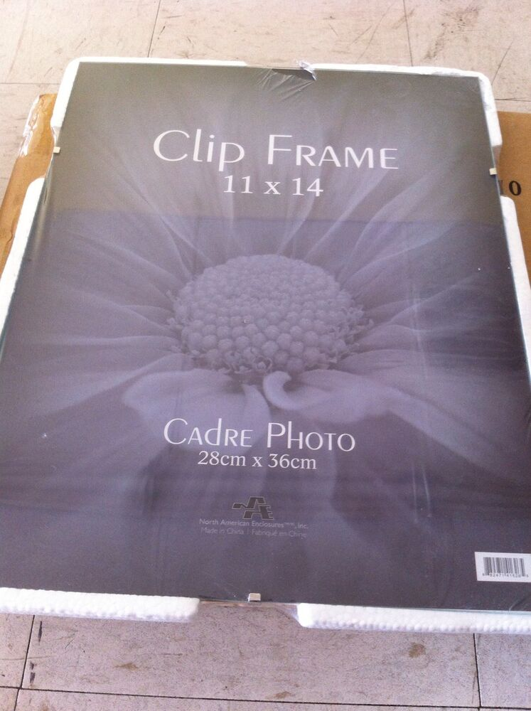 Six 11x14 Quot Clip Frames Picture Frameless Real Glass Phot