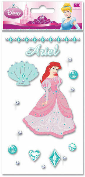 Disney ARIEL Jewels Princess 3d Scrapbook Stickers