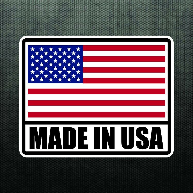 made in usa america vinyl sticker decal united states flag. Black Bedroom Furniture Sets. Home Design Ideas