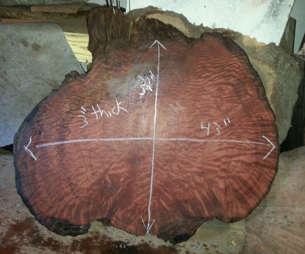 Redwood Coffee Table: Redwood Burl Rustic Table Clock Slab Game Mount Exotic