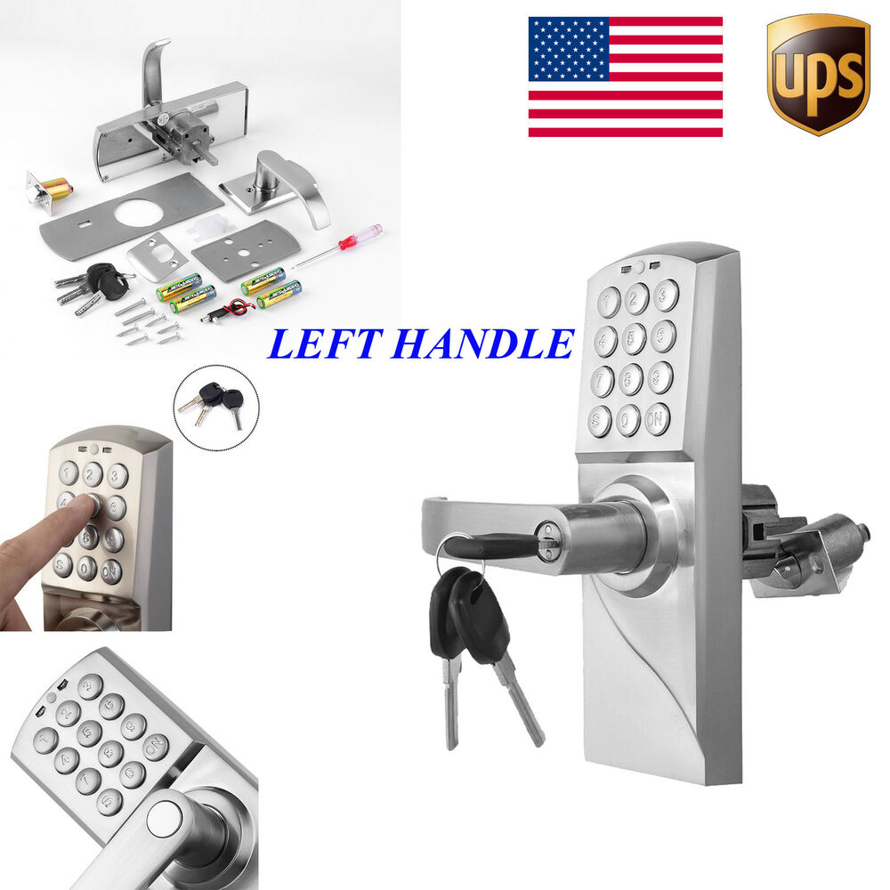 digital electronic code keyless keypad security entry door. Black Bedroom Furniture Sets. Home Design Ideas