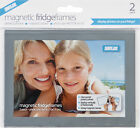 12 x Silver Magnetic Photo Fridge Frames (Holds 6x4 inch photo)