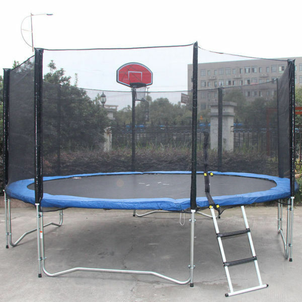 New 14ft Trampoline Combo Bounce Jump Safety Enclosure Net: New 12FT Trampoline Bounce Jump Safety Enclosure Net W
