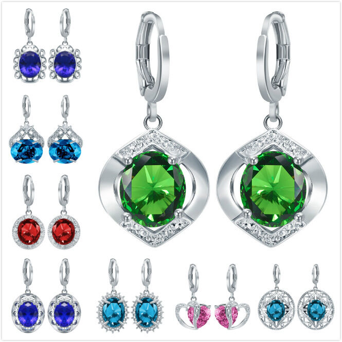 Perfect  Crystal Horse Eye Drop Earrings Women Dangle Earrings Jewelry  EBay