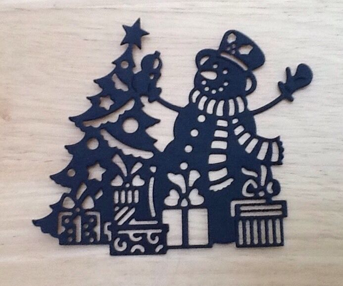 Die Cut Snowman Scene Silhouette Card Topper Christmas Card Making ...