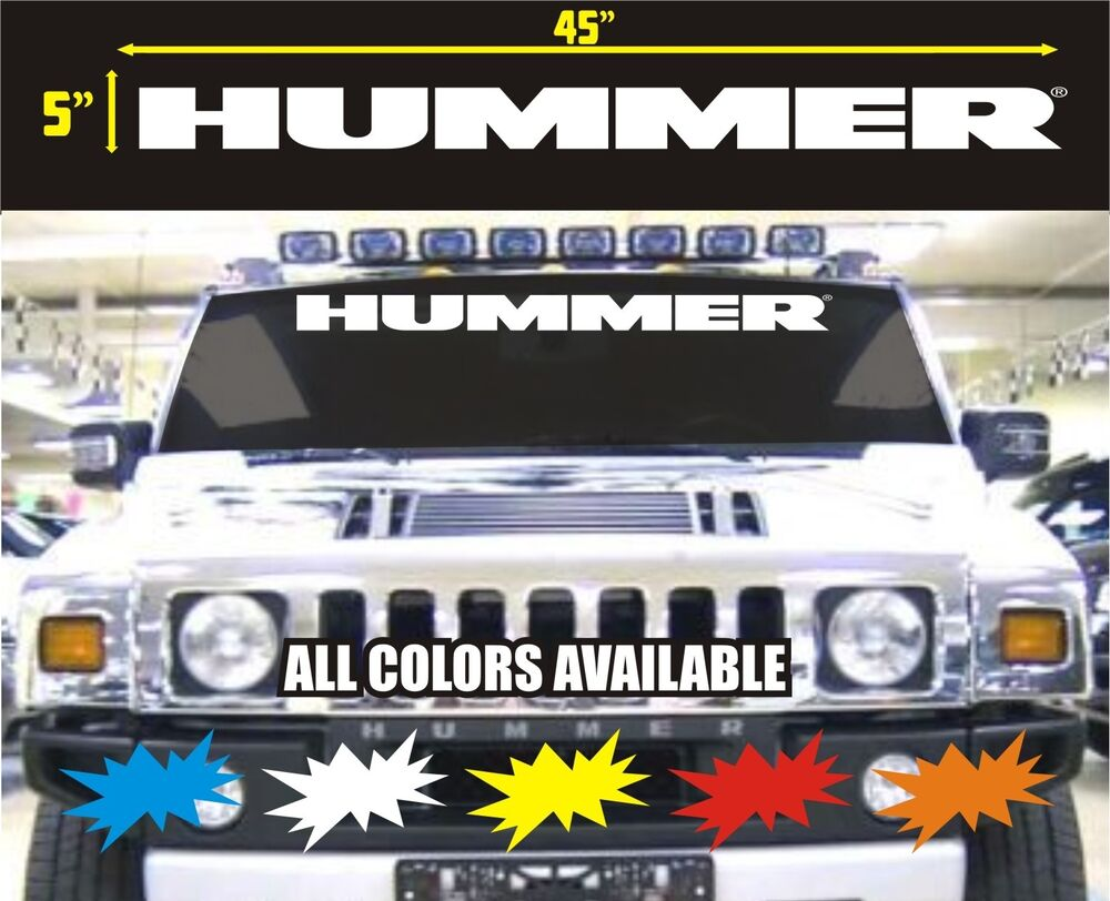Hummer H1 Or H2 Windshield Vinyl Decal Sticker Ebay