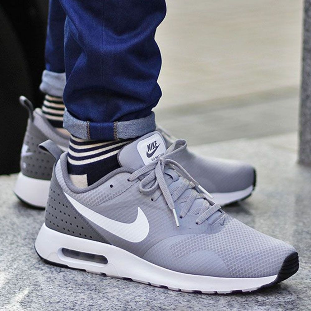 acadd85791c7 Details about NIKE AIR MAX TAVAS 705149 007 WOLF GREY  WHITE-COOL GREY MEN S  RUNNING SHOES