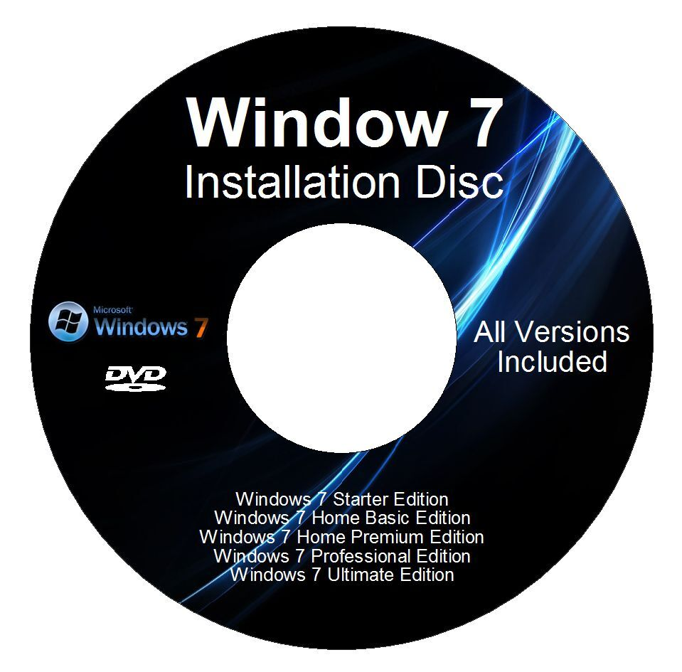 windows 7 32 64 bit reinstall with driver disk all versions windows 7 included ebay. Black Bedroom Furniture Sets. Home Design Ideas