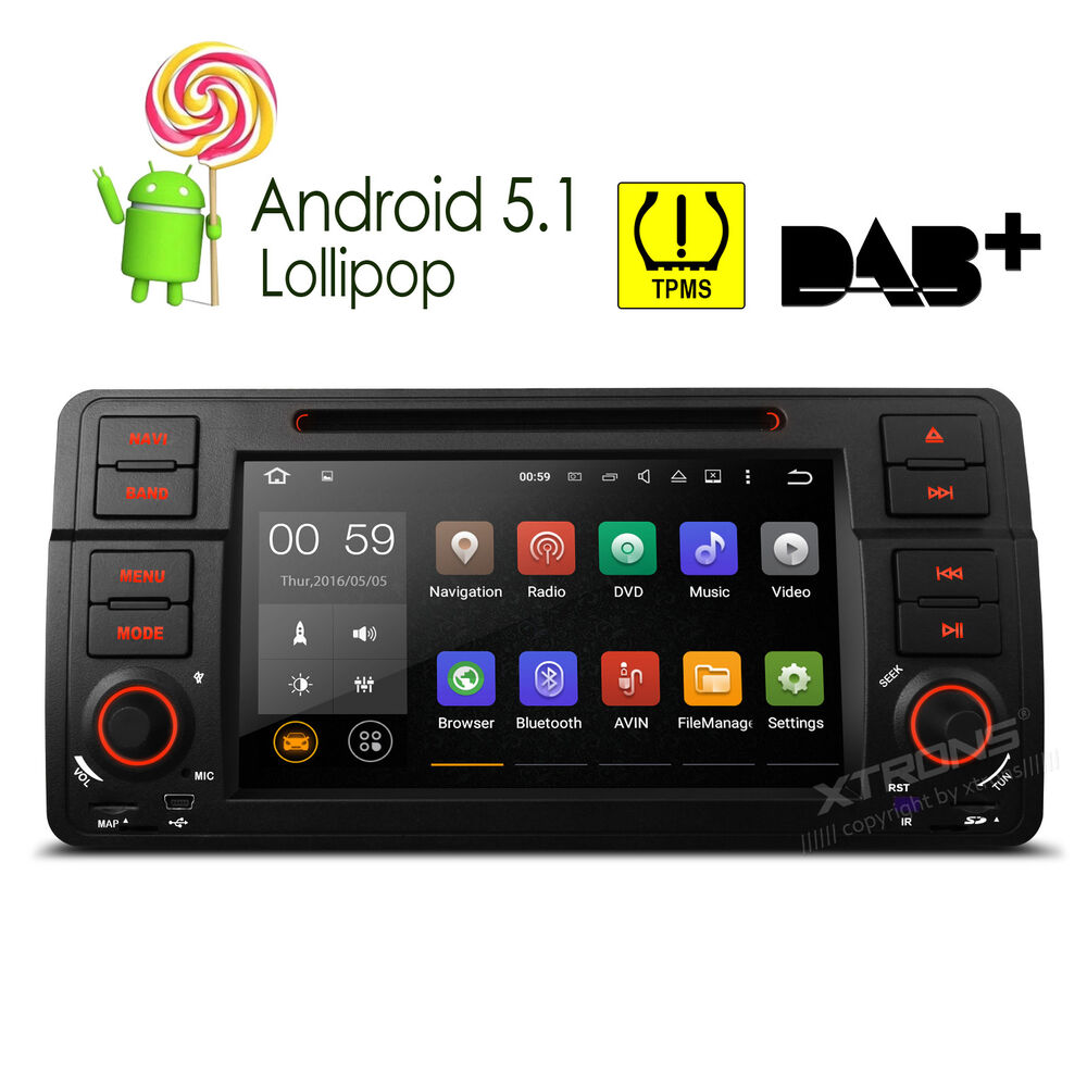 android 5 1 car dvd gps navigation 1 din radio stereo obd2. Black Bedroom Furniture Sets. Home Design Ideas
