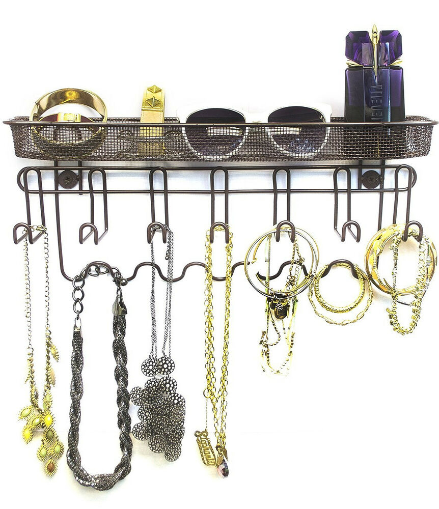Jewelry Organizers Wall: Sorbus Jewelry Organizer Holder, 13 Hook Wall Mounted