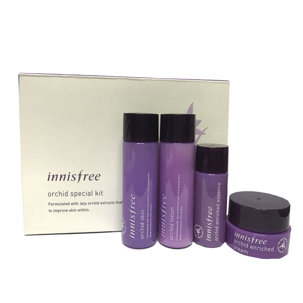 Cream Malam Ga 6 Innisfree Sample Orchid Skin Care Special Kit 4 Item Lotion Essence 8809516797730 Ebay