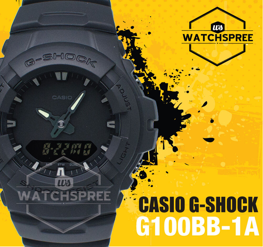 Details about Casio G-Shock Special Color Model Basic Black Watch G100BB-1A fb16fba2b58