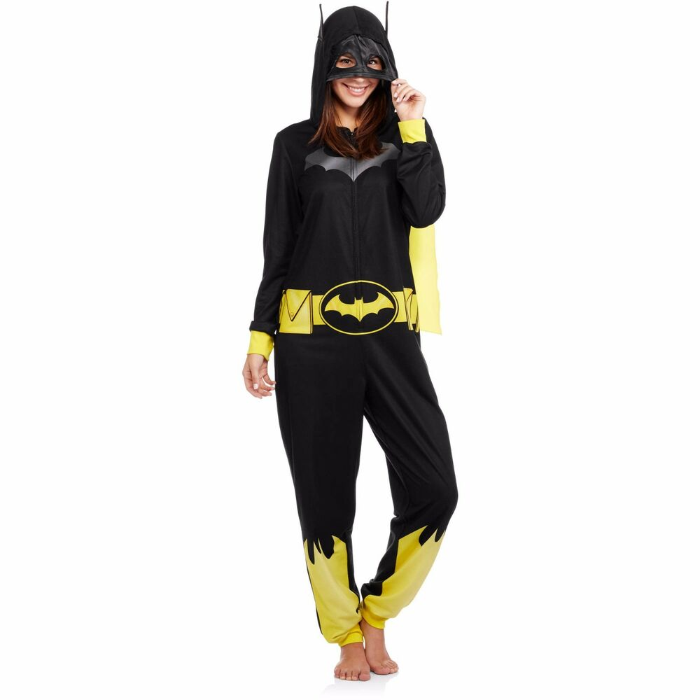 Womens One Piece Disney Batman Batgirl Costume PJs Onesie ...