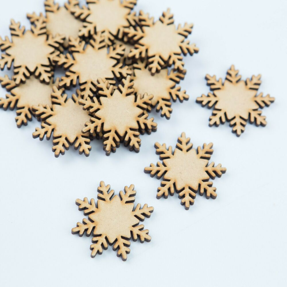 Mdf wooden snow flakes christmas gift chilly frosty xmas - Copos de nieve manualidades ...