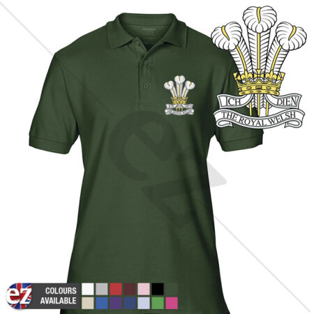 img-INFANTRY (The Royal Welsh Regiment) - Army Polo Shirt - Optional Veteran Badge