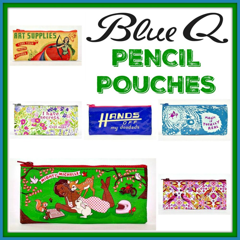 Blue Q Bags Zipper Pouch Cats Dogs