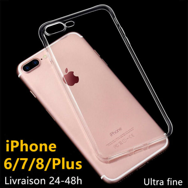 POUR  IPHONE 6 7 8 PLUS / X HOUSSE COQUE SILICONE Crystal ultra fine TOP QUALITE