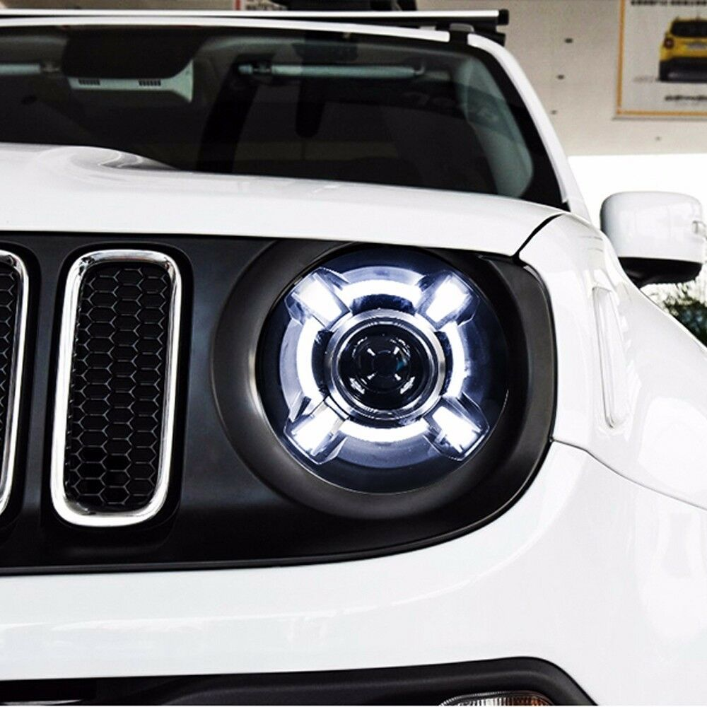 LED Projector Xenon HID Headlights Assembly For Jeep ...