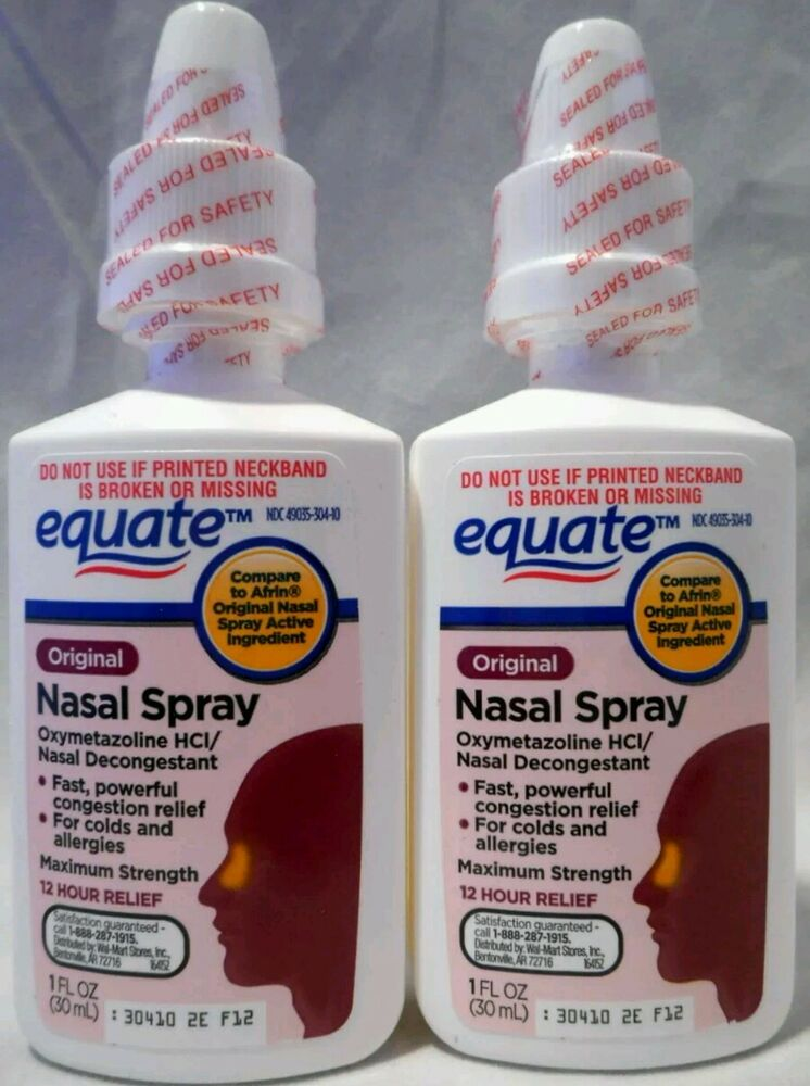 2 Nasal Spray Equate 12h Relief 30ml Total 60ml Ebay