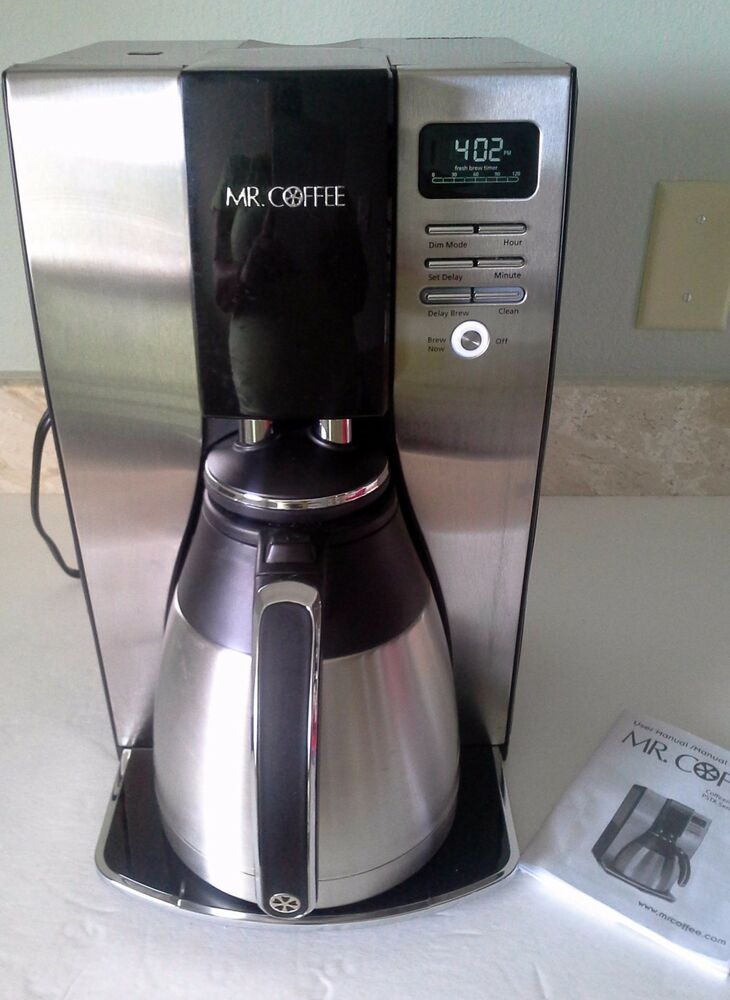 Optima Coffee Maker With Thermal Jug : Mr. Coffee Optimal Brew 10-Cup Thermal Black Stainless Coffeemaker eBay