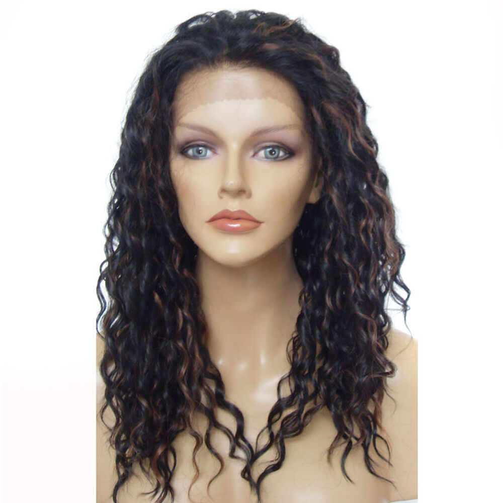 New Women S Wig Lace Front Wig Long Biig Wavy Black Mix
