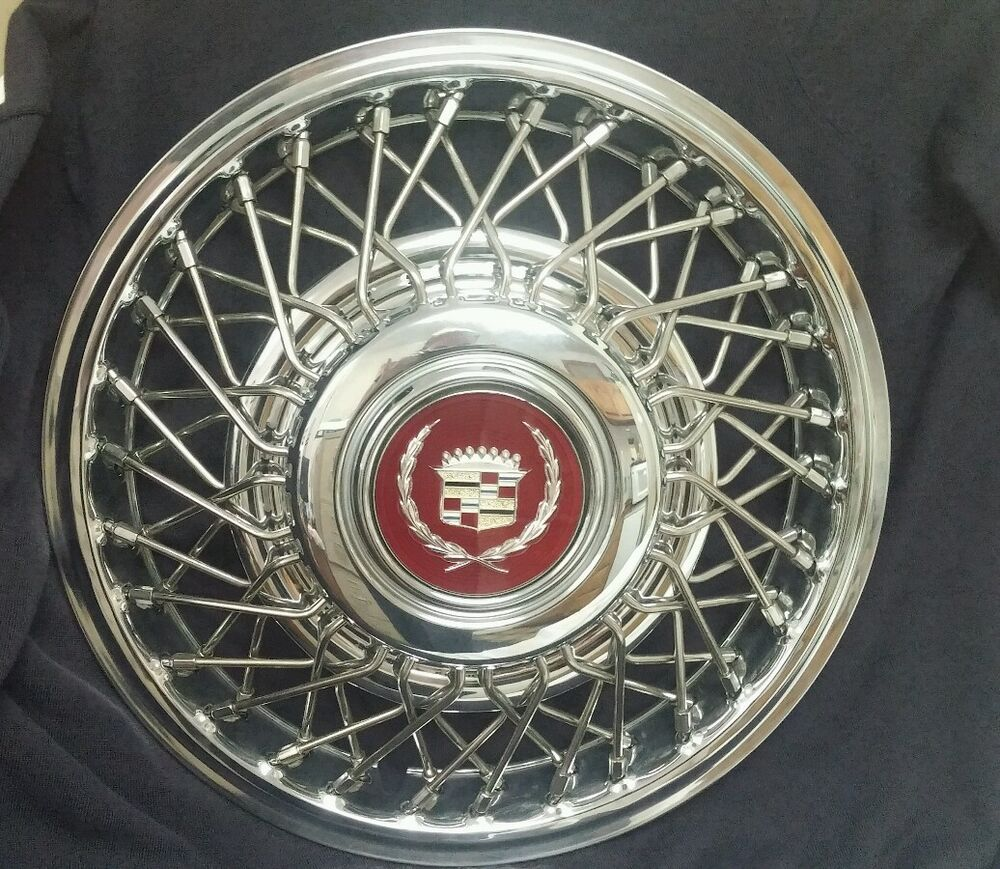 New Nos Gm Fwd Cadillac 14 Quot Wire Wheel Hubcaps With