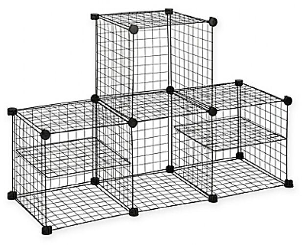 Grid Wire Modular Shelving And Storage Cubes Ebay