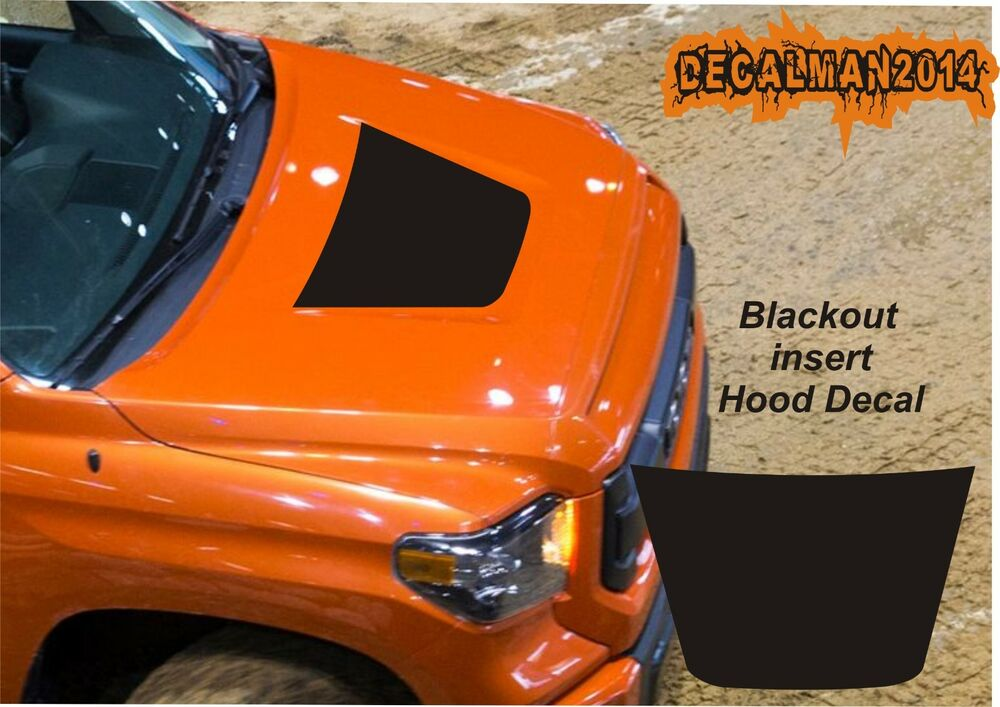 Toyota Tundra Bed Cover >> TOYOTA TUNDRA TRUCK SOLID BLACKOUT VINYL HOOD DECAL 2014-2016 MODELS   eBay