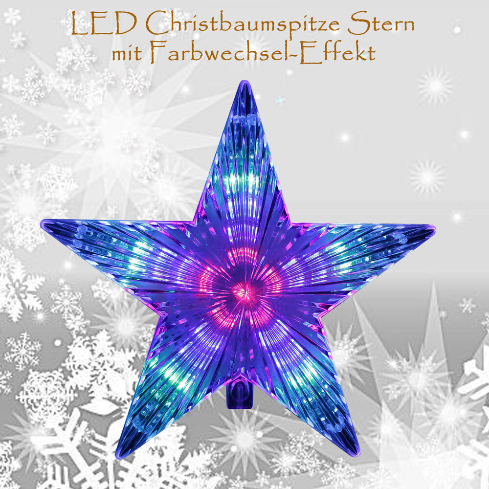 dekostern weihnachtsbaum christbaumspitze baumspitze stern led 230v leuchtstern ebay. Black Bedroom Furniture Sets. Home Design Ideas
