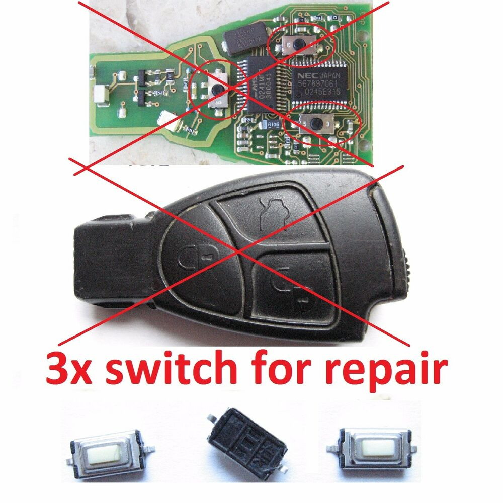 3 micro switch for repair remote alarm key fob mercedes. Black Bedroom Furniture Sets. Home Design Ideas