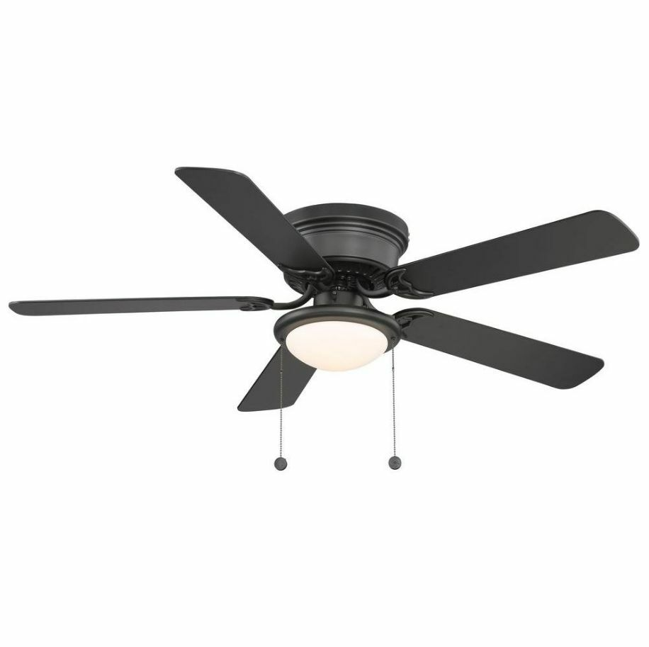 Ceiling Fan Mount : In hampton bay hugger flush mount black ceiling fan
