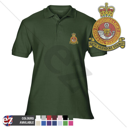 img-King Shropshire Light Infantry - Polo Shirt - Optional Veteran Badge