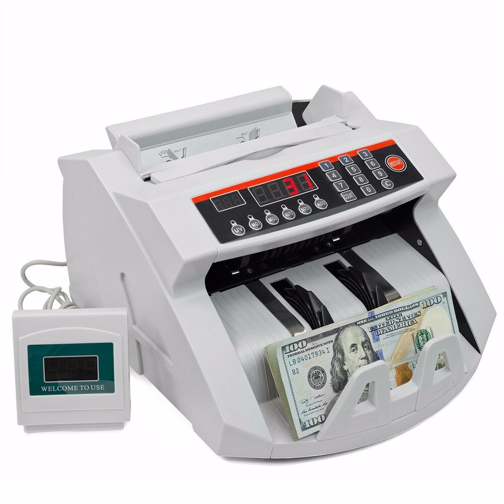 Money Bill Counter Machine Cash Counting Bank Counterfeit