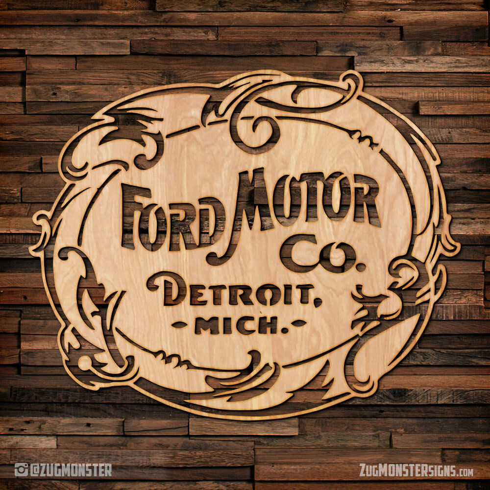 Vintage Ford Motor Company Wood Hanging Wall Art Ebay