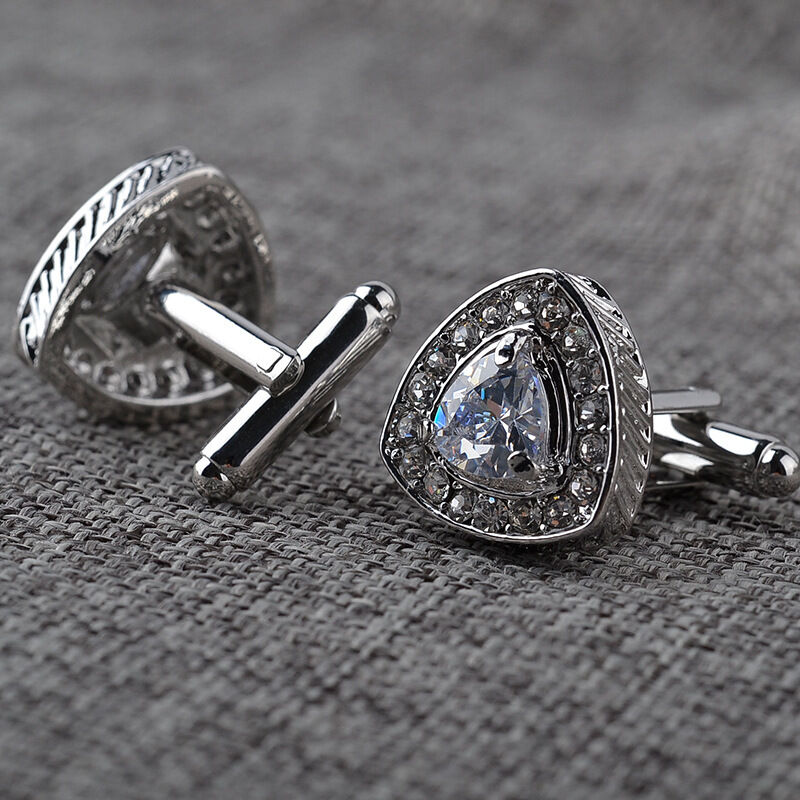 Mens Wedding Party Gifts: Vintage Silver Plated Mens Crystal Wedding Party Gift